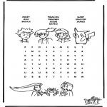Malvorlagen Basteln - Pokemon Puzzle 7