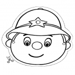 Malvorlagen Basteln - Polizist