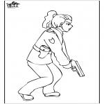 Allerhand Ausmalbilder - Polizistin