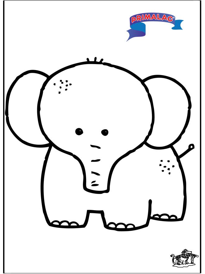 Primalac Elefant - Ausmalbilder tiere