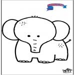 Ausmalbilder für Kinder - Primalac Elefant