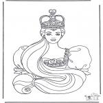 Allerhand Ausmalbilder - Prinzessin 2