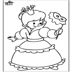 Allerhand Ausmalbilder - Prinzessin 4