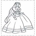 Allerhand Ausmalbilder - Prinzessin im Kleid