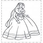 Allerhand Ausmalbilder - Prinzessin im Kleid