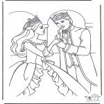 Allerhand Ausmalbilder - Prinzessin tanzt