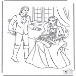 Allerhand Ausmalbilder - Prinzessin und Prinz 1
