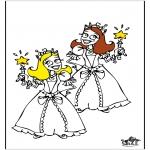 Allerhand Ausmalbilder - Prinzessinnen 4