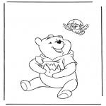 Ausmalbilder Comicfigure - Pu der Bär 1