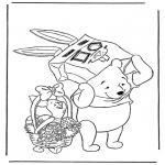 Ausmalbilder Comicfigure - Pu der Bär  2