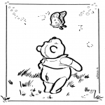 Ausmalbilder Comicfigure - Pu der Bär 6