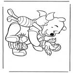 Ausmalbilder Comicfigure - Pu der Bär 7