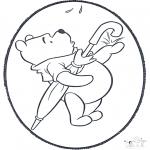 Basteln Stechkarten - Pu der Bär Stechkarte 2
