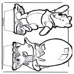 Basteln Stechkarten - Pu der Bär Stechkarte 5