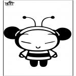 Ausmalbilder Comicfigure - Pucca die Biene