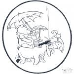 Basteln Stechkarten - Puh Stechkarte 1