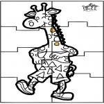 Malvorlagen Basteln - Puzzl Girafe