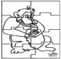 Puzzle Affe
