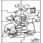 Malvorlagen Basteln - Puzzle Ariel