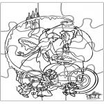 Malvorlagen Basteln - Puzzle Assepoester