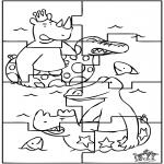 Malvorlagen Basteln - Puzzle Babar