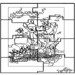 Malvorlagen Basteln - Puzzle Bambi