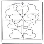Malvorlagen Basteln - Puzzle Blum