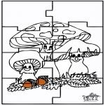 Malvorlagen Basteln - Puzzle Herbst