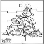 Malvorlagen Basteln - Puzzle