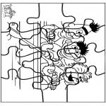 Malvorlagen Basteln - Puzzle Sesamstrasse