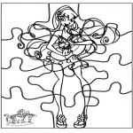 Malvorlagen Basteln - Puzzle Winx