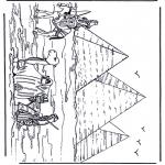 Allerhand Ausmalbilder - Pyramide in Ägypten
