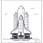 Allerhand Ausmalbilder - Rakete Lanzierung