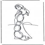 Allerhand Ausmalbilder - Rapunzel 1