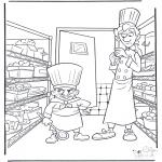 Ausmalbilder Comicfigure - Ratatouille 2