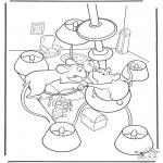 Ausmalbilder Comicfigure - Ratatouille 8
