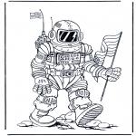 Allerhand Ausmalbilder - Raumfahrer