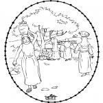 Bibel Ausmalbilder - Rebekka 1