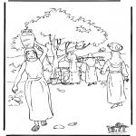 Bibel Ausmalbilder - Rebekka 2