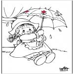 Allerhand Ausmalbilder - Regen