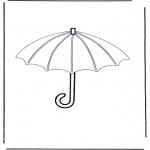 Allerhand Ausmalbilder - Regenschirm