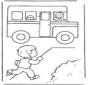 Rennen zur Schulbus