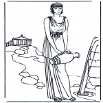 Allerhand Ausmalbilder - Römische Frau 1