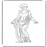 Allerhand Ausmalbilder - Römische Frau 2
