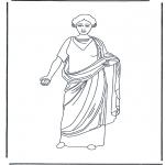 Allerhand Ausmalbilder - Römische Frau 3