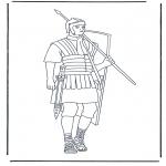 Allerhand Ausmalbilder - Römischer Soldat 1