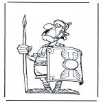 Ausmalbilder Comicfigure - Römischer Soldat Asterix