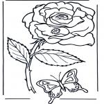 Allerhand Ausmalbilder - Rose