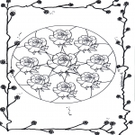 Malvorlagen Mandalas - Rosen Mandala 2
