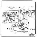 Bibel Ausmalbilder - Rut 2
